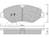 CIFAM  Piduriklotsi komplekt, ketaspidur 822-671-1
