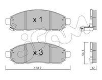 CIFAM  Piduriklotsi komplekt, ketaspidur 822-743-0