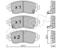 CIFAM  Piduriklotsi komplekt, ketaspidur 822-750-0