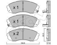 CIFAM  Piduriklotsi komplekt, ketaspidur 822-785-0