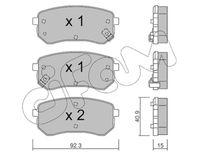 CIFAM  Piduriklotsi komplekt, ketaspidur 822-815-0