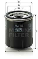 MANN-FILTER  Õlifilter MW 68