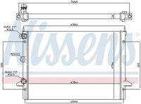 NISSENS  Radiaator, mootorijahutus 62013