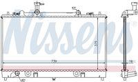 NISSENS  Radiaator, mootorijahutus 62466A