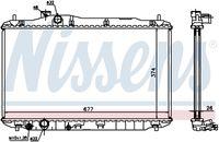 NISSENS  Radiaator, mootorijahutus 68134A