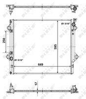 NRF  Radiaator, mootorijahutus EASY FIT 56104