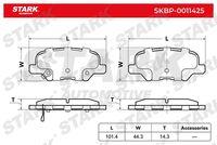 Stark  Piduriklotsi komplekt, ketaspidur SKBP-0011425