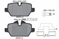 TEXTAR  Piduriklotsi komplekt, ketaspidur Q+ 2547801