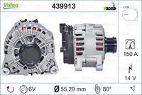Generaator VALEO ORIGINS NEW 14V 439913